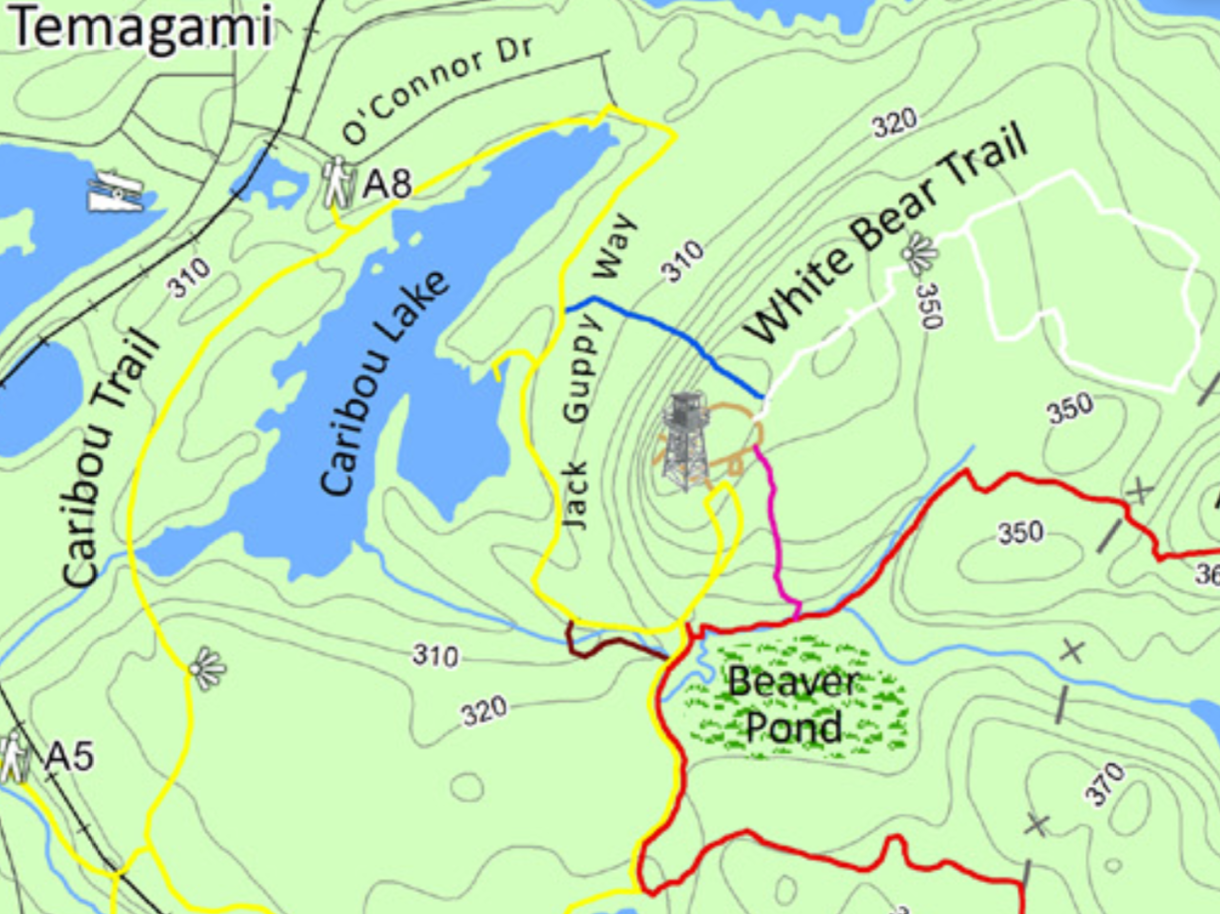 White Bear Trail system in Temagami ON
